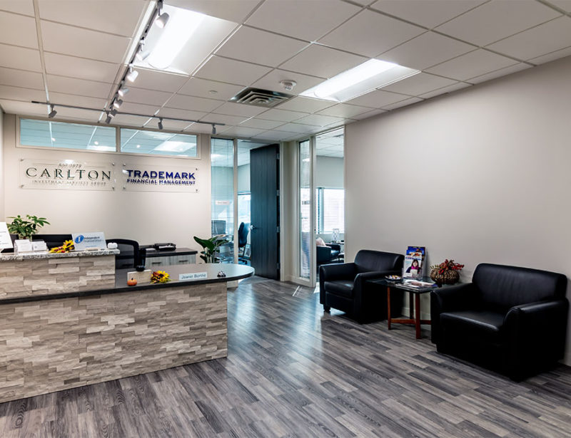 Commercial Interior Design for Carlton Investment Services & Trademark Financial Management